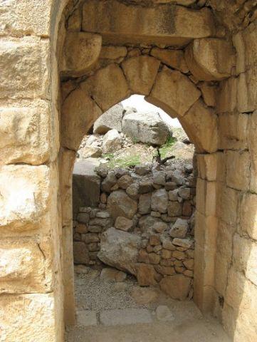 Крепость Нимрод. Центральный вход в крепость Нимрод (северо-запад)