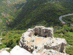 Крепость Нимрод. Вид на восточную разрушенную башню