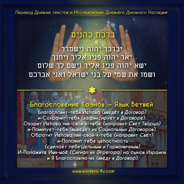 """Смысл """"Благословения Коэнов"""" на Языке Ветвей - ברכת כהנים - Биркат Kohanim II"""
