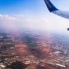 Поездка в Израиль 2014: Вид из иллюминатора самолета