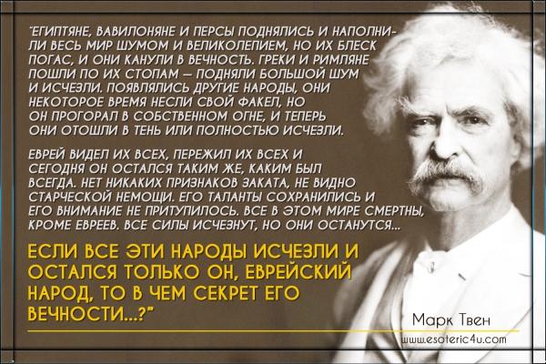 """Марка Твен II: """"О евреях"""" ..."""